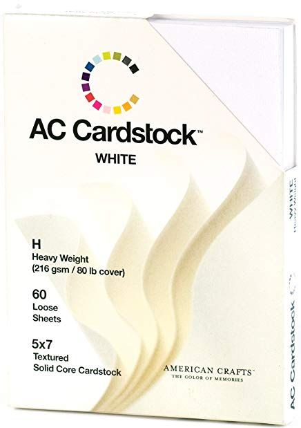 5 X 7 Inch White Ac Cardstock Pack By American Crafts Includes 60 Sheets Of Heavy Weight Textured White Cardstock Review American Crafts Card Stock Crafts