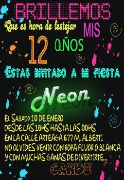 Glow Party Neon Birthday Invitation Zazzle Com
