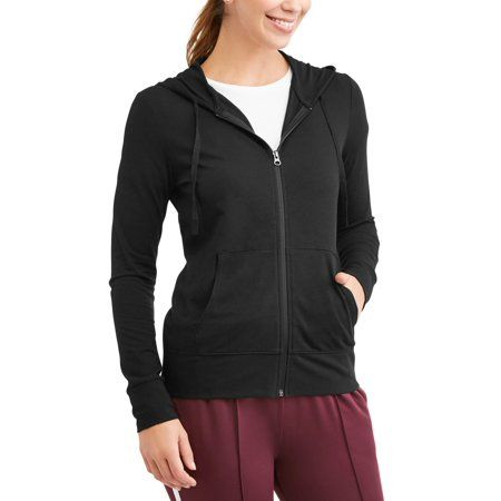 Athletic Works Womens Athleisure French Terry Full Zip