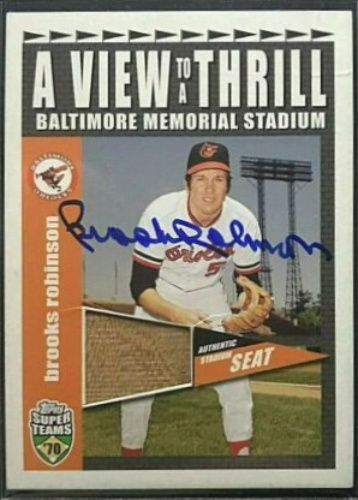2002 Topps Brooks Robinson Baseball Autographed Trading Card Brooks Robinson Baseball Robinson