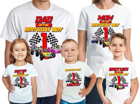 Mickey And The Roadster Racers Birthday Shirt Personalized Name Age Race