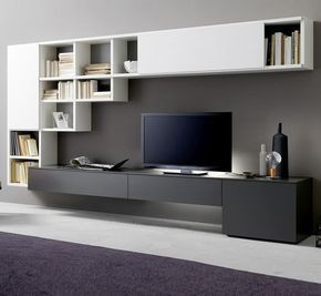 Image Result For Tv Wall Unit With Computer Desk