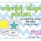 16 colorful shape posters, perfect for your calendar or math focus wall!  Shapes included in this packet are hexagon, square, circle, triangle, rho...