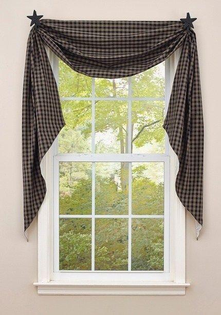 Cobblestone Fishtail Curtain Swags Swag Curtains Primitive