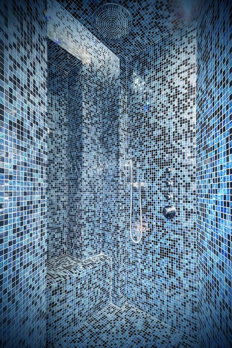 Salle d\'eau design, mosaïque Bisazza, esprit Hammam. | Salle ...