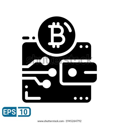 Bitcoin Icon Solid Style Isolated On Stock Vector (Royalty Free) 1945264792