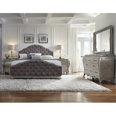 House Of Hampton Holmes Upholstered Panel Headboard Size Queen