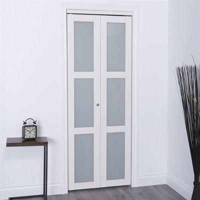 Renin Interior Closet Door Eu3 24 In X 80 In Modern European Bi Fold Closet Door 3 Frosted Glass L Glass Closet Doors Glass Closet Frosted Glass Closet Doors