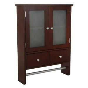 32x24x7 Home Decorators Collection Amanda 24 In W Wall Cabinet In Dark Brown