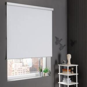 Home Decorators Collection White Cordless Stain Resistant Blackout Roller Shades 34 In W X 72 In L Inv150 254163 The Home Depot Blackout Roller Shades Roller Shades Home Decorators Collection