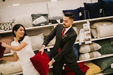 Think You Love Target This Couple Had Their Wedding Photos Taken There Prom Pictures Couples Target Wedding Prom Picture Poses