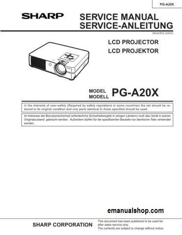 sharp lcd projector pg a20x service manual download service repair rh pinterest com Manufacturers Auto Repair Service Manuals Honda Service Repair Manual