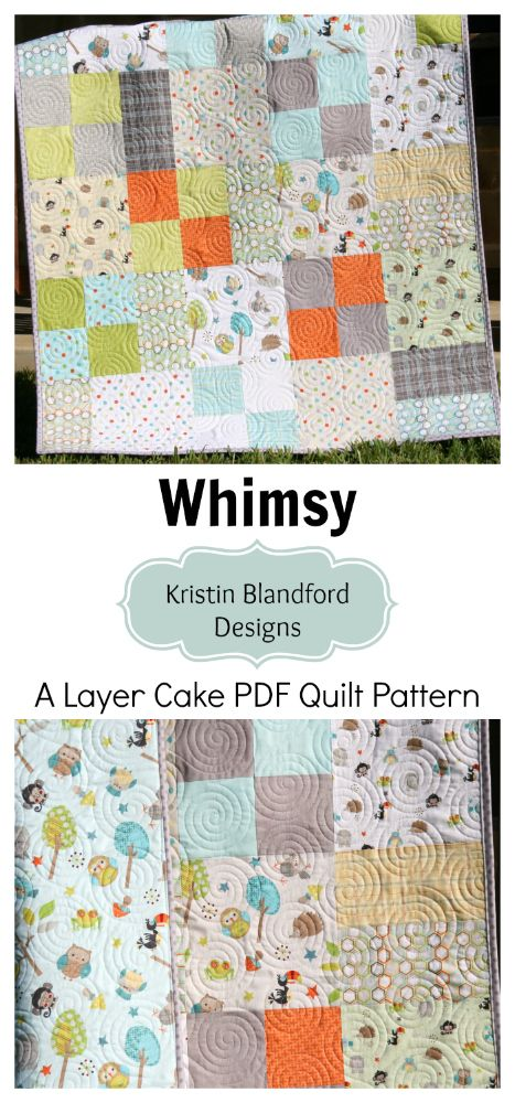 Layer Cake Quilt Pattern Whimsy Moda Baby Quilt And Throw Etsy Layer Cake Quilts Layer Cake Quilt Patterns Beginner Quilt Patterns