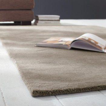 230 Kurzflorteppich Soft Aus Wolle 200 X 200 Cm Beige Soft Teppich Teppich Rosa Wohnzimmer Teppich