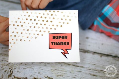 comic thank you note - Kids Activities Blog