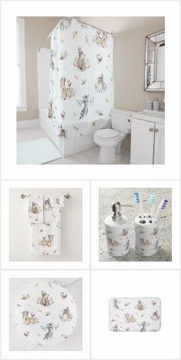 Kids Woodland Animal Bathroom Set With