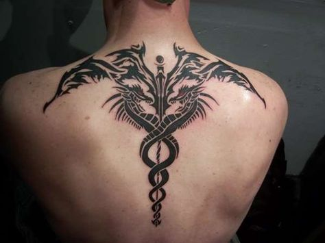 60 Caduceus Tattoo Designs For Men - Manly Ink Ideas