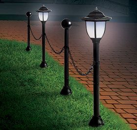 Check Out Lamppost Set From Harriet Carter Solar Powered Lamp Lamp Post Solar Lamp Post