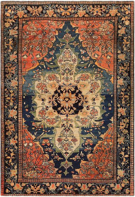 Anique Persian Faharan Sarouk Rug 48101 by Nazmiyal NYC
