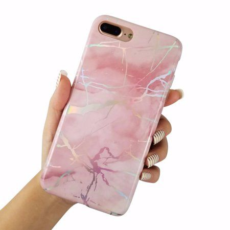 For Iphone 8 Plus 5 5 Glossy Laser Holographic Marble Soft Tpu Case Cover Walmart Com Cute Phone Cases Iphone 8 Plus Iphone Phone Cases