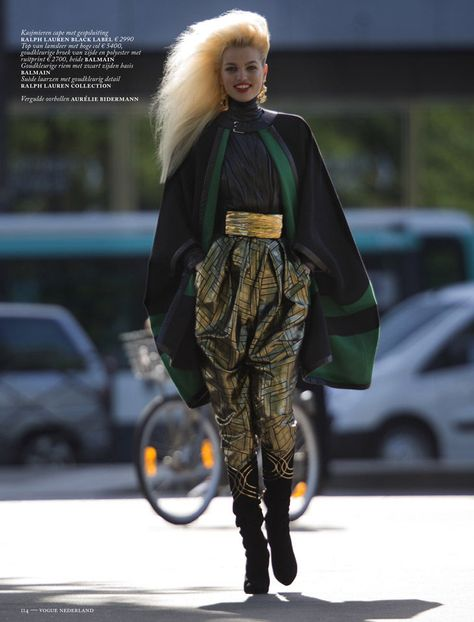 Clash of the Tartans - Top model Daphne Groeneveld struts her stuff in the 'Clash of the Tartans' fashion story for Vogue Netherlands.