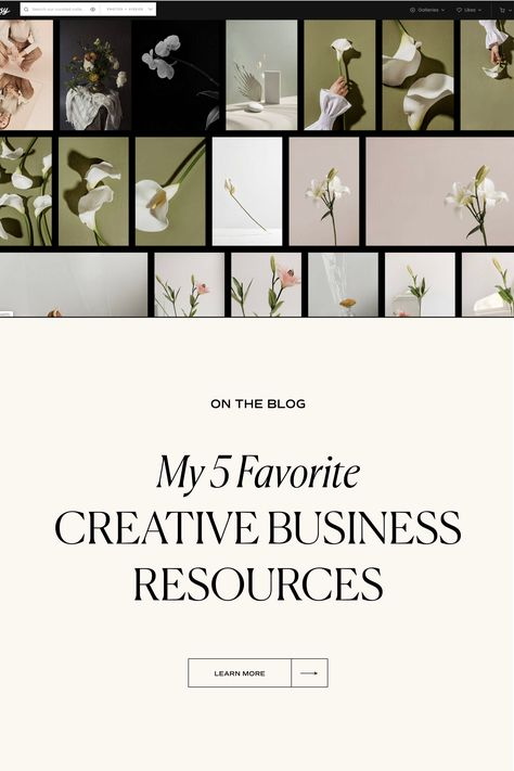 My 5 Favorite Creative Business Resources