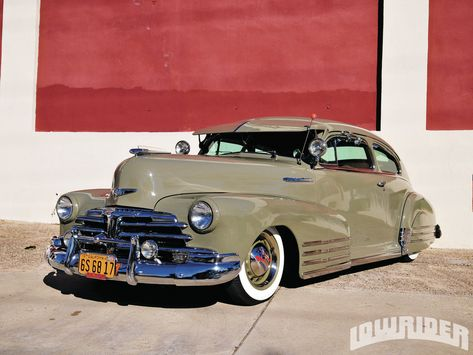 Michael Dominguez also extends his thanks to Jason Bray and Ruben Cantoran for all of their help with the 1948 Chevrolet Fleetline restoration. - Lowrider Magazine