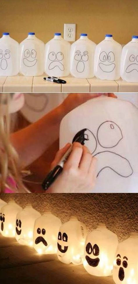 Never would have thought to do this with empty milk jugs, but this is CUTE!