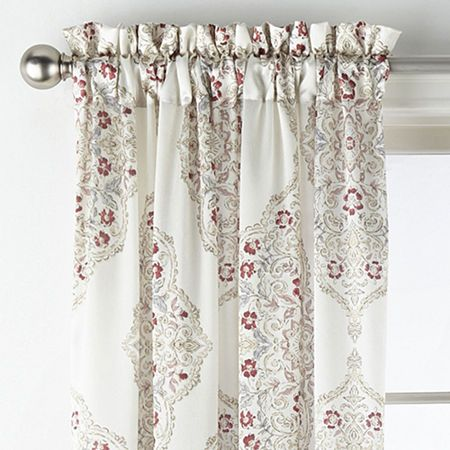 Jcpenney Home Hilton Medallion Light Filtering Rod Pocket Curtain