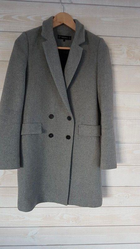 Manteau Zara bleu marine à capuche Vinted
