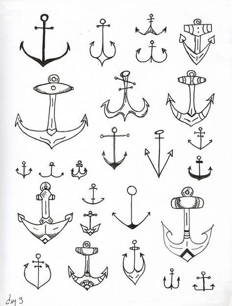 tatouage ancre modèles