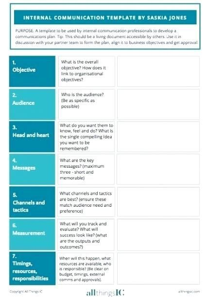 How To Create An Communication Strategy Communication Plan
