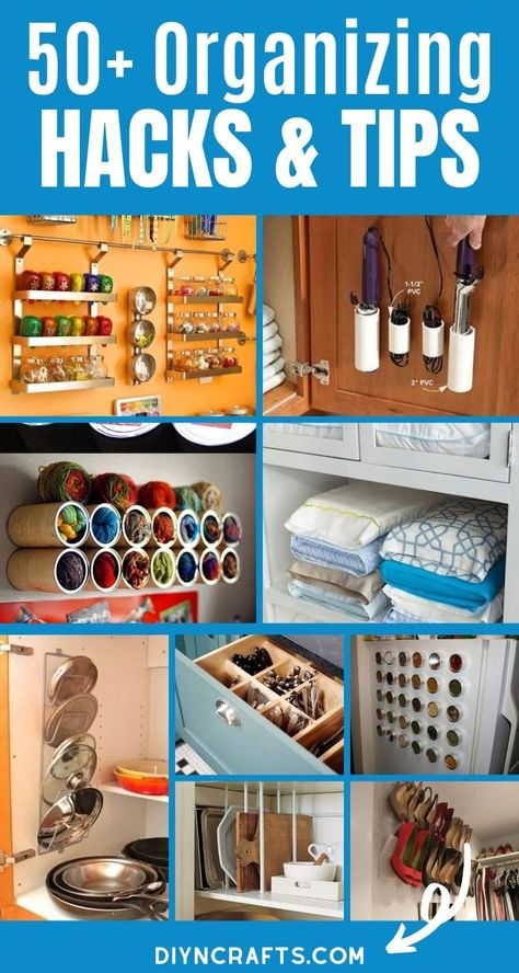 50+ Incredibly Creative Home Organizing Ideas & DIY Projects