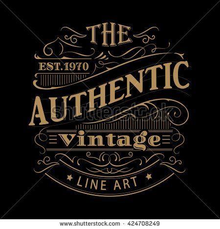Typography Vintage Label Western Hand Drawn Antique Frame Typography Vector Illustration Codesign Magazine Daily Updated Magazine Celebrating Creative Tal Vintage Lettering Vintage Typography Vintage Labels