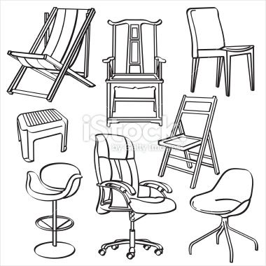chair drawing. 14 best drawing chair images on pinterest | drawing, stock illustrations and architecture