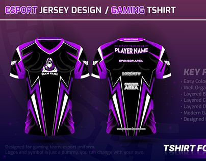 Download Check Out New Work On My Behance Profile Esport Jersey Design Vector Gaming Tshirt Http Be Net Gallery 102901981 Esport Je Jersey Design T Shirt Jersey