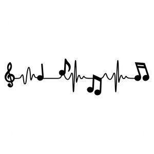 Silhouette Design Store: Musical Heart Beat