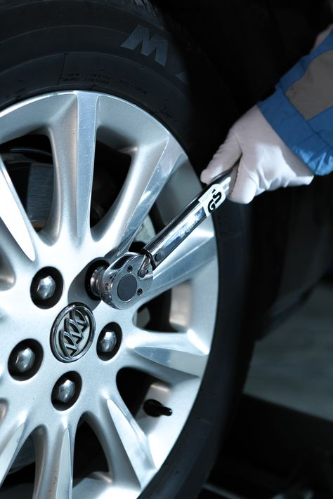 Torque Wrench Used For Change The Tire