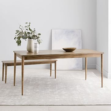 Modern Farmhouse Dining Table Cerused Carob Farmhouse Dining