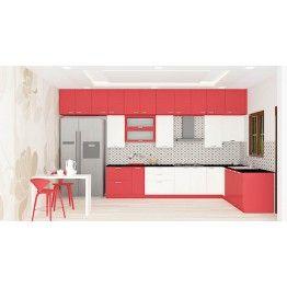 Buy Dombeya L Shaped Kitchen Online Scale Inch Modern Kitchen Furniture Online Kitchen Design Kitchen Modular