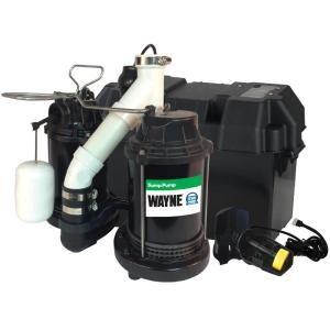 Wayne Upgraded 1 2 Hp Combination Battery Backup System Wss30vn Sump Pump Submersible Sump Pump Sump