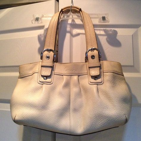 b8d4ca9ac4be Cream Coach purse Cream colored textured authentic Coach purse. I got this  from a Coach store a few years ago and no longer use it.