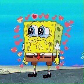 Meme Spongebob Squarepants Crying Heart Tearsofjoy