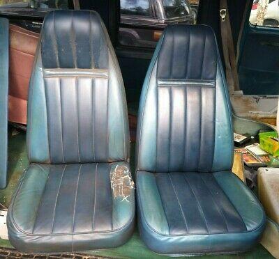Sponsored Ebay 71 95 Chevy Gmc Van Front Bucket Seat Blue Driver