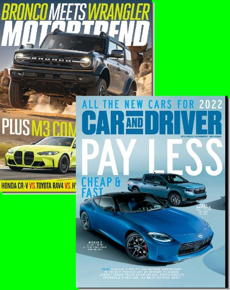 Motor Trend & Car & Driver Bundle - 1 Year Subscription (22 Issues)
