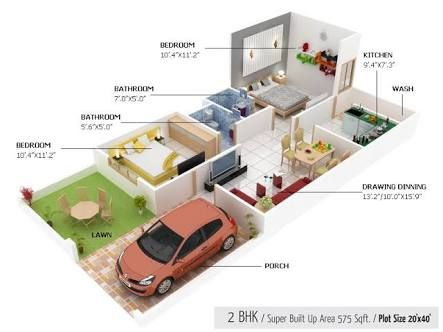 Image Result For House Plan 20 X 40 Sq Ft Duplex In 2019