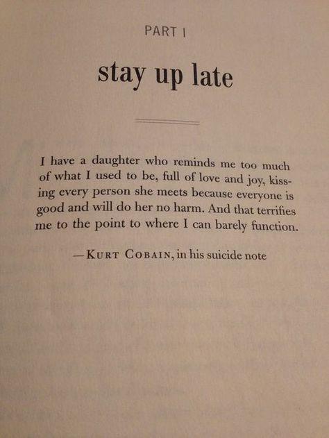 kurt cobain, sad, and words image