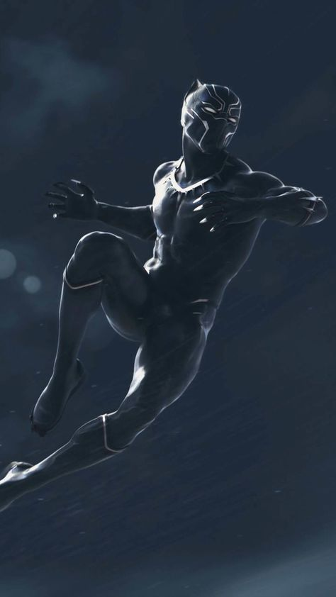 Black Panther Action Artwork 4K Ultra HD Mobile Wallpaper