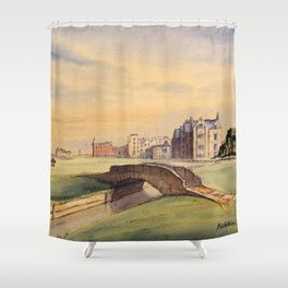 St Andrews Golf Course Scotland 18th Hole Shower Curtain St