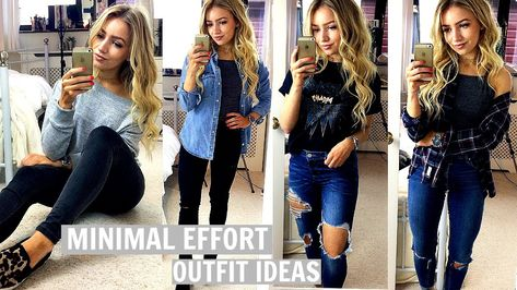 LAST MINUTE OUTFIT IDEAS / NO EFFORT OUTFITS FOR SCHOOL & COLLEGE